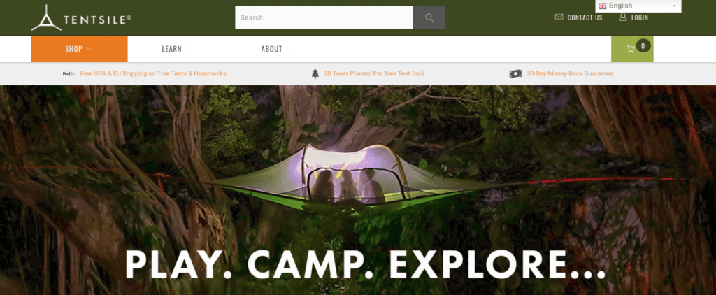 Camping Shopify Stores